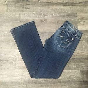 Re-Rock by Express low rise bootcut jeans. 6 long